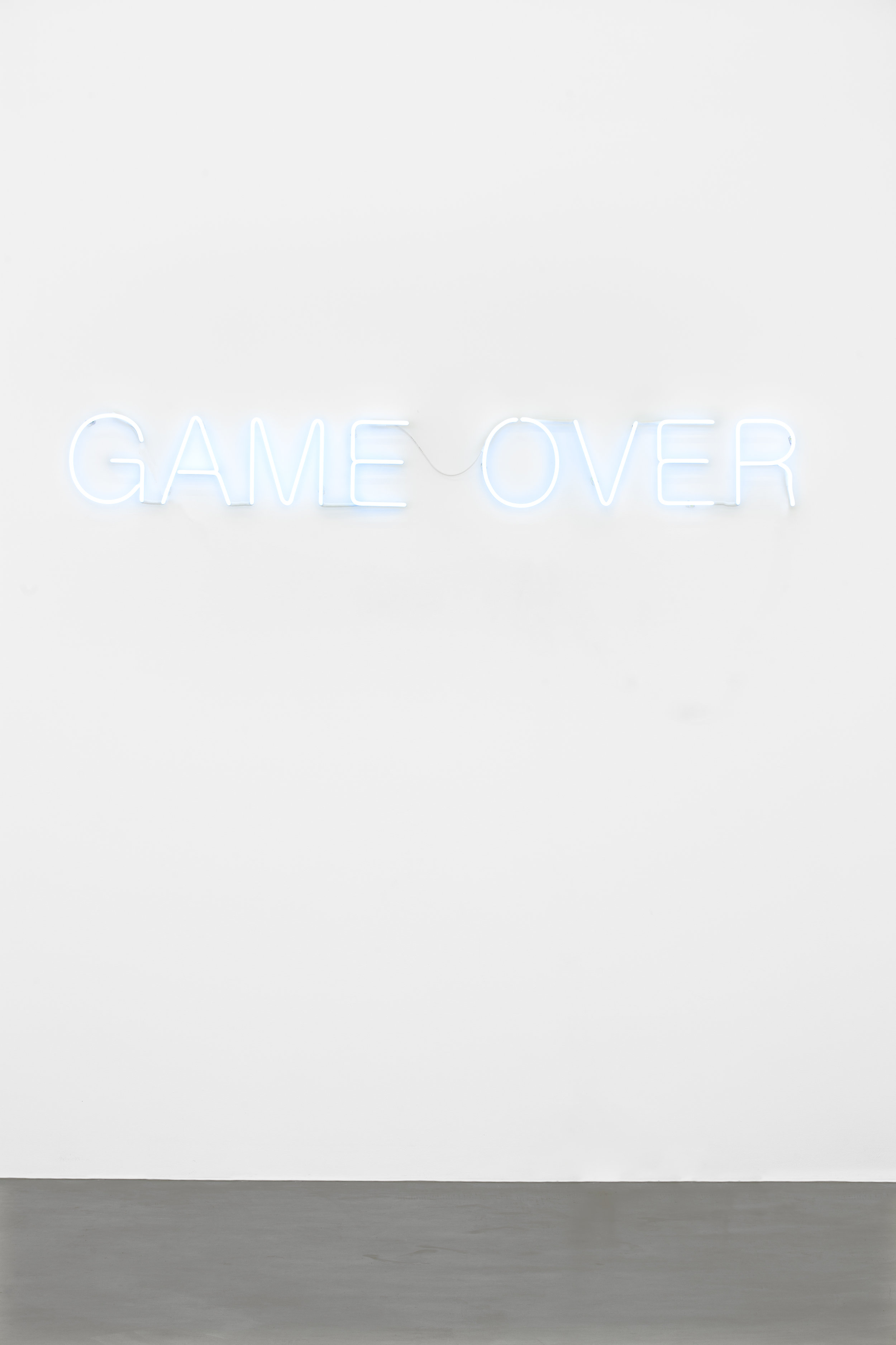 Untitled (Game Over) , 2016 neon, 27 x 217 cm
