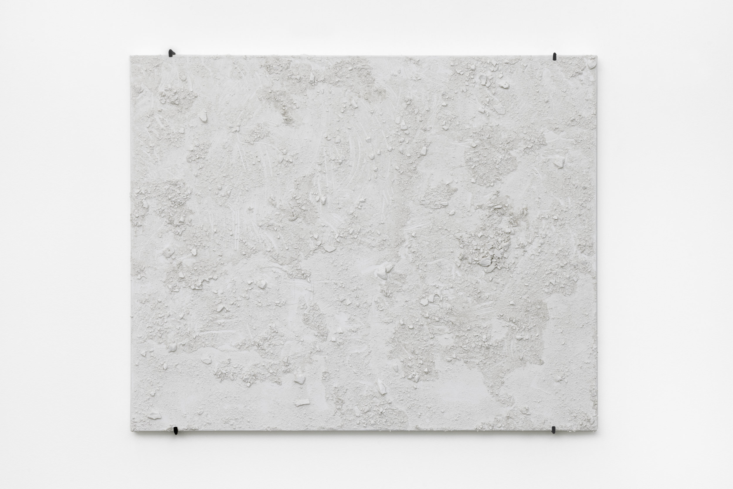 Sculpture on Canvas , 2016 plaster on canvas, 80 x 100 cm