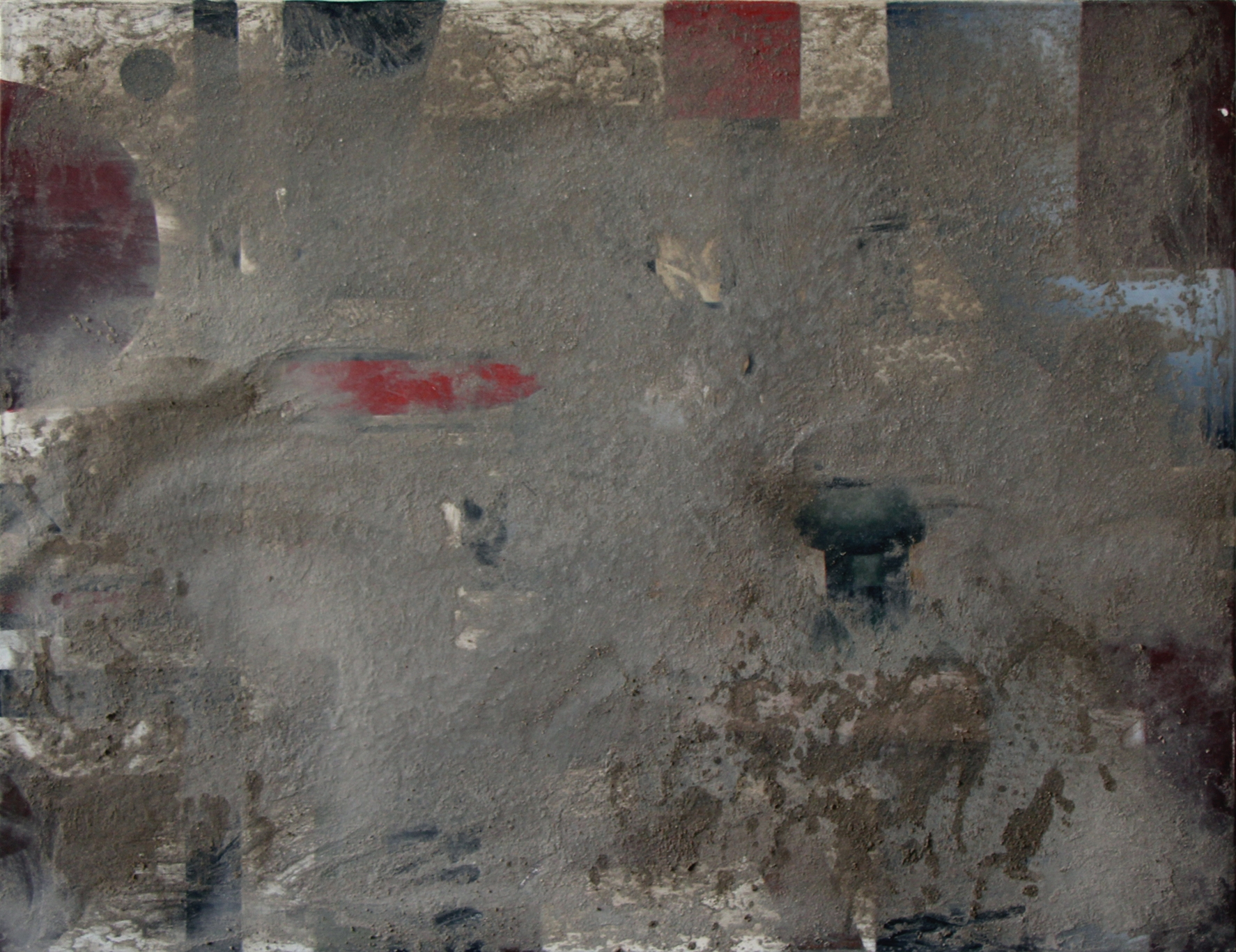 Pablo Rasgado  Pissed. After. Nature Morte. , 2014 dust and urine on acrylic on canvas. 50 x 65 cm