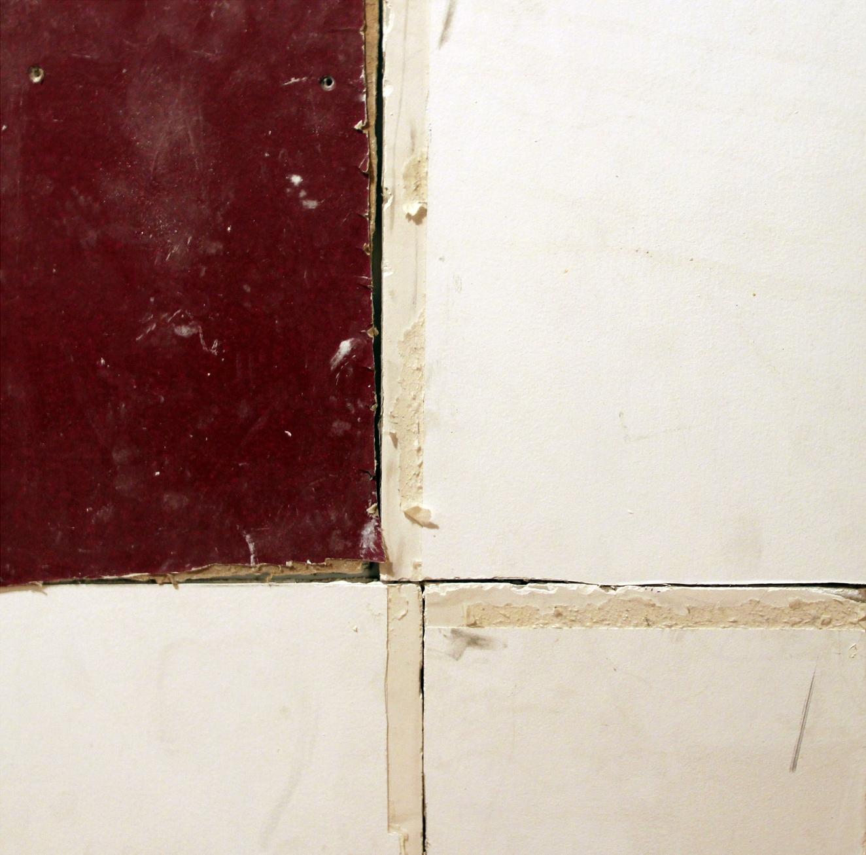 Pablo Rasgado  Unfolded architecture (Monochromatic muralism No. 13) , 2012 drywall from ex teresa arte actual, 50 x 50 cm