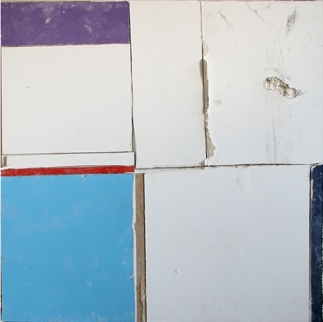 Pablo Rasgado  Unfolded architecture (Monochromatic muralism No. 22),  2012 drywall from Museum of Modern Art Mexico, 100 x 100 cm
