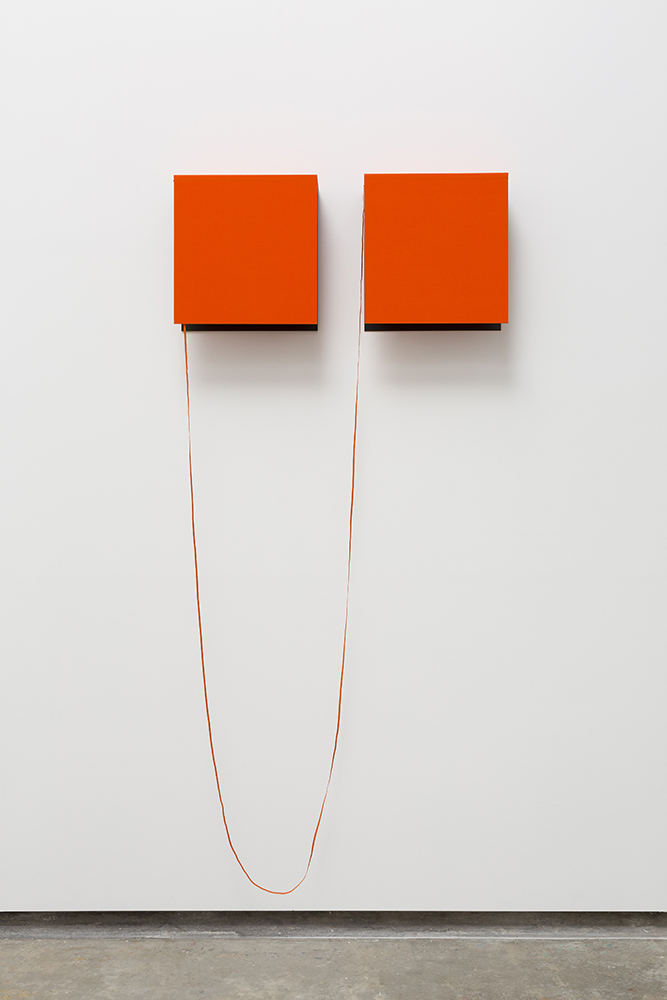 Fernanda Fragateiro  ER , 2017 Black coated stainless steel supports and handmade notebooks with fabric cover, 52 x 120 x 20 cm