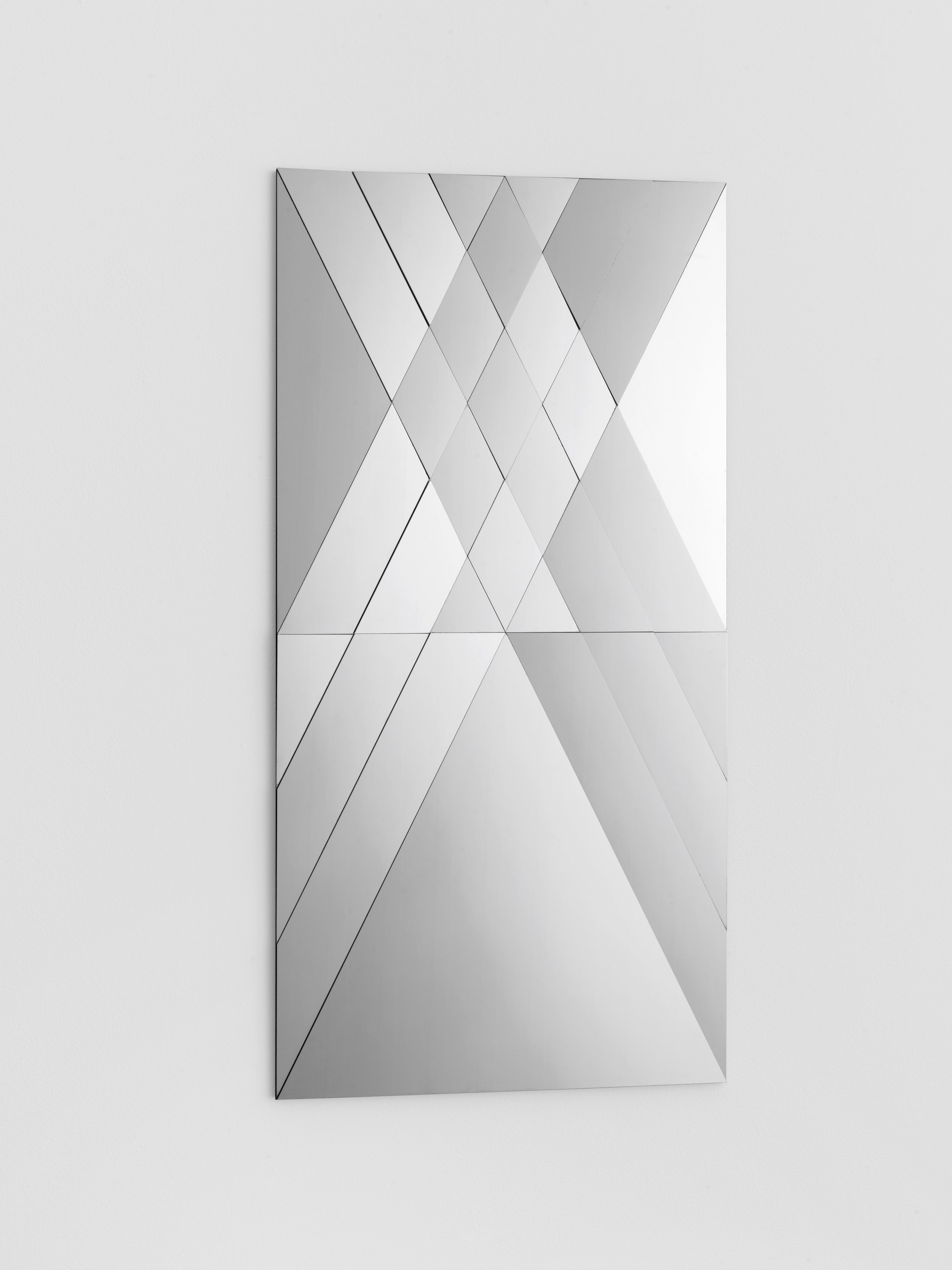 Claudia Wieser  Untitled,  2015  polished stainless steel, 40 x 80 cm