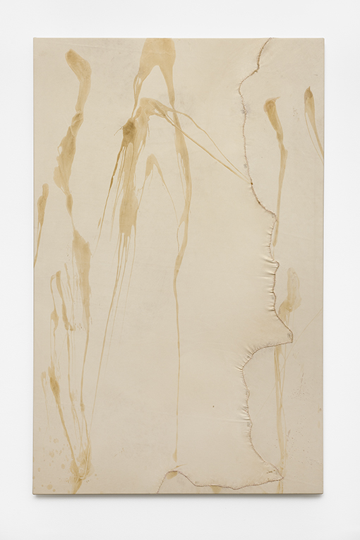 Leather #5,  2017 beeswax on leather, stitched, 172 x 109 cm