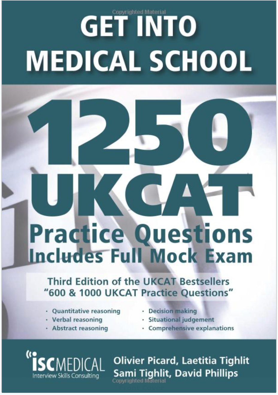 Buy 1250 UCAT Book - One of the first things in your UCAT preparation is working out the structure of the questions you will face in the 5 sections. Buy this handy book and accustom yourself with the sections before you start worrying about how much time you have to answer the questions.