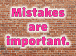 the importance of making mistakes