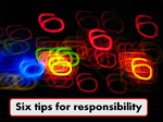 tips for being responsible