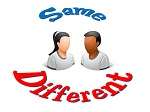 We are the same but different too