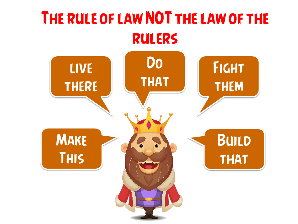 not the law of rulers