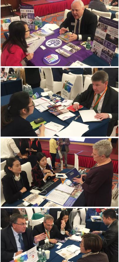 foreign educators and service providers enjoy a full day of private meetings with chinese education agents