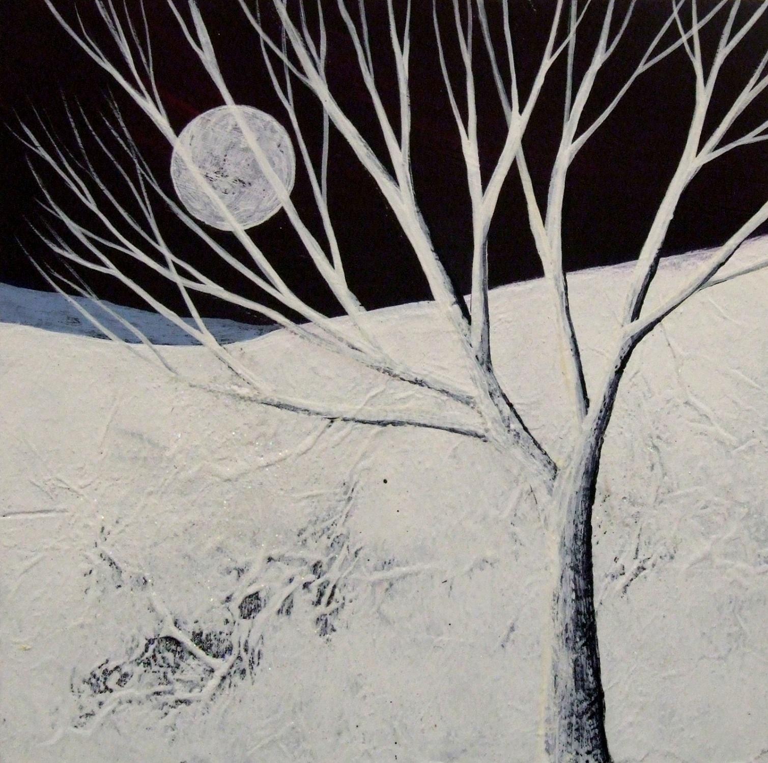 Twilight Mountains IV  acrylic & mixed media  SOLD