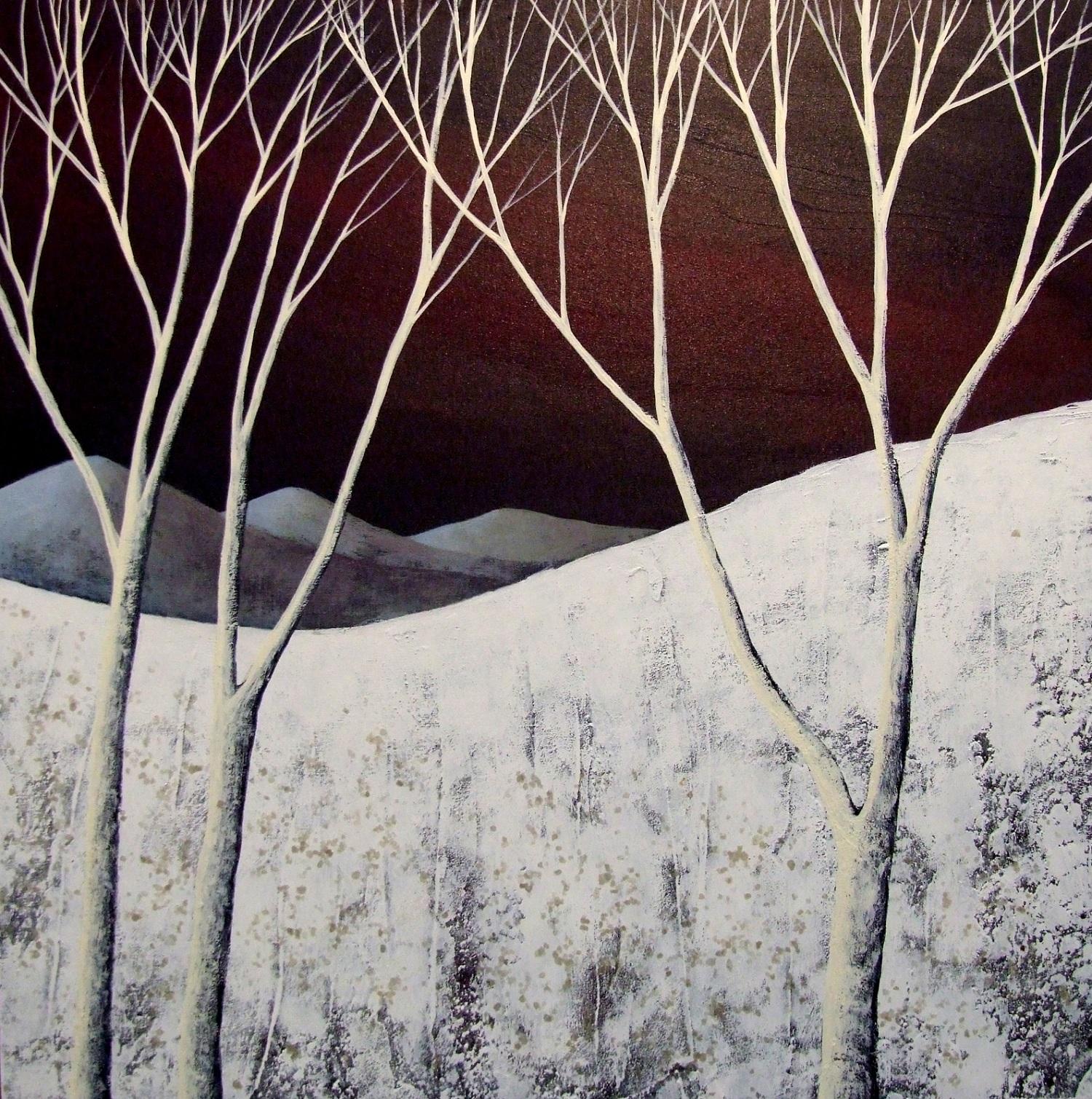 The Moonlit Night III  acrylic & mixed media  SOLD