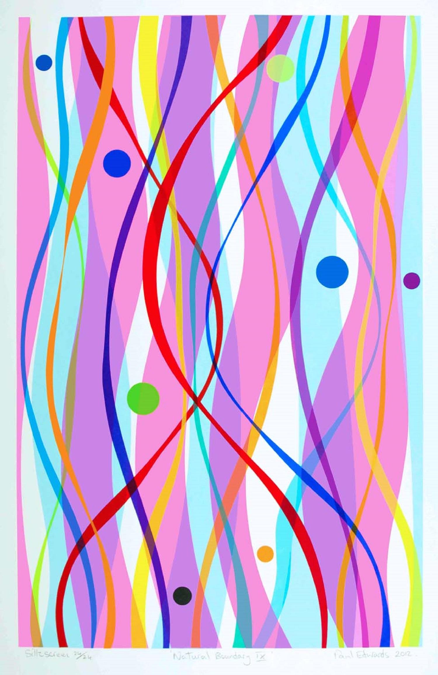 Natural Boundary IX   silkscreen   Approx 50 x 70 framed  £195 unframed