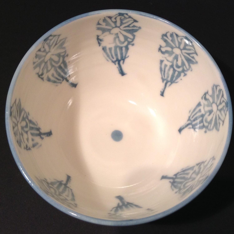 Blue Rim Bowl  porcelain