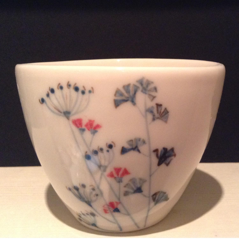 Flower Decorated Bowl  porcelain