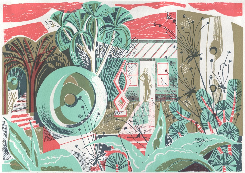 Barbara's Garden   lithograph   60 x 42 cm  £230 (unframed)