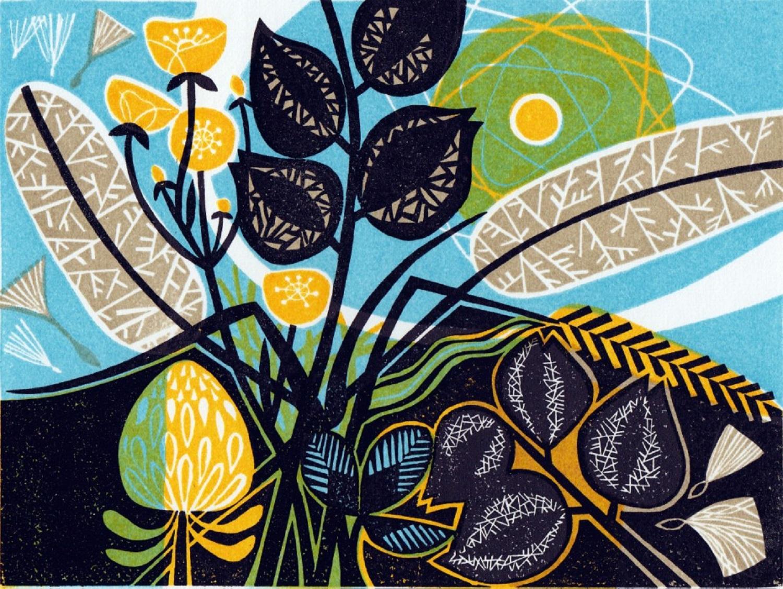 Meadow   linocut