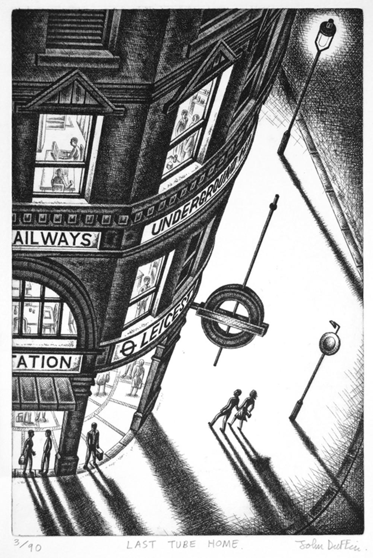 Last Tube   Lithograph   38 x 25 cm  £595 (framed)  £495 (unframed)