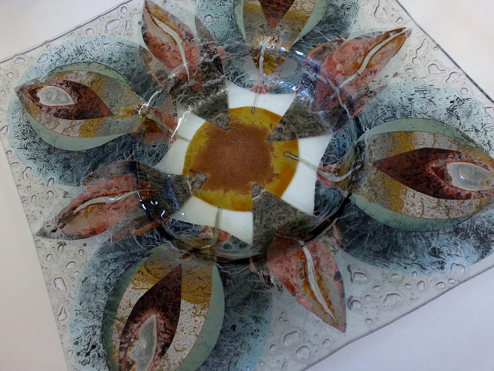 Square Dish  glass