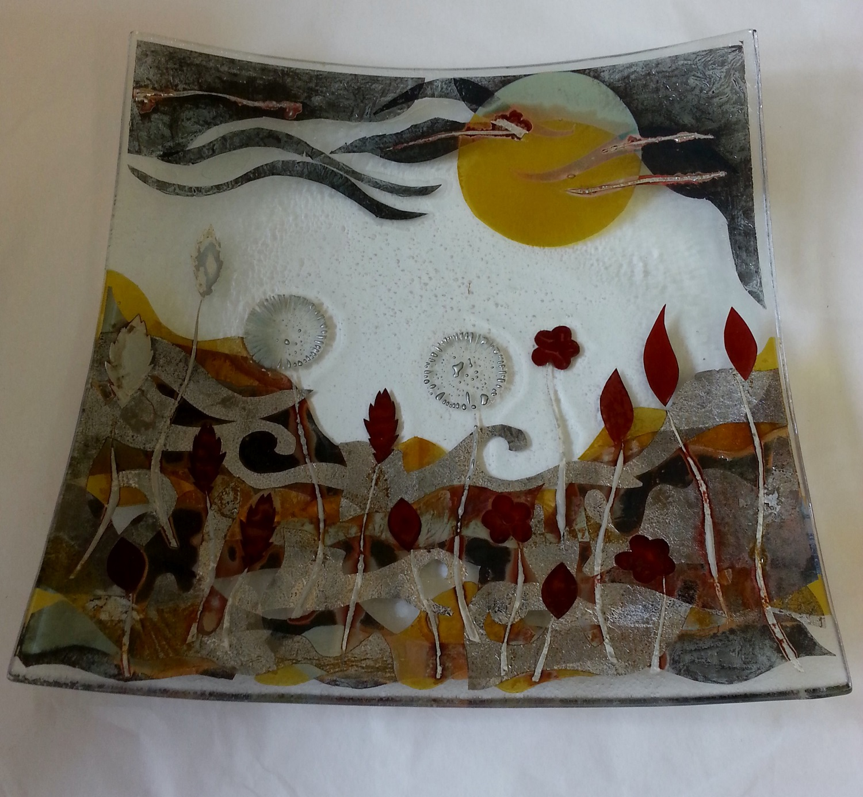 Landscape Plate   glass