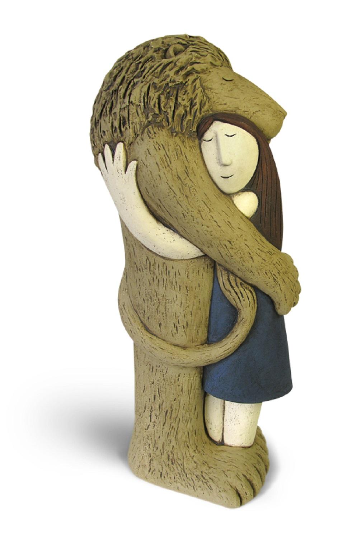 Lion Hug   ceramic