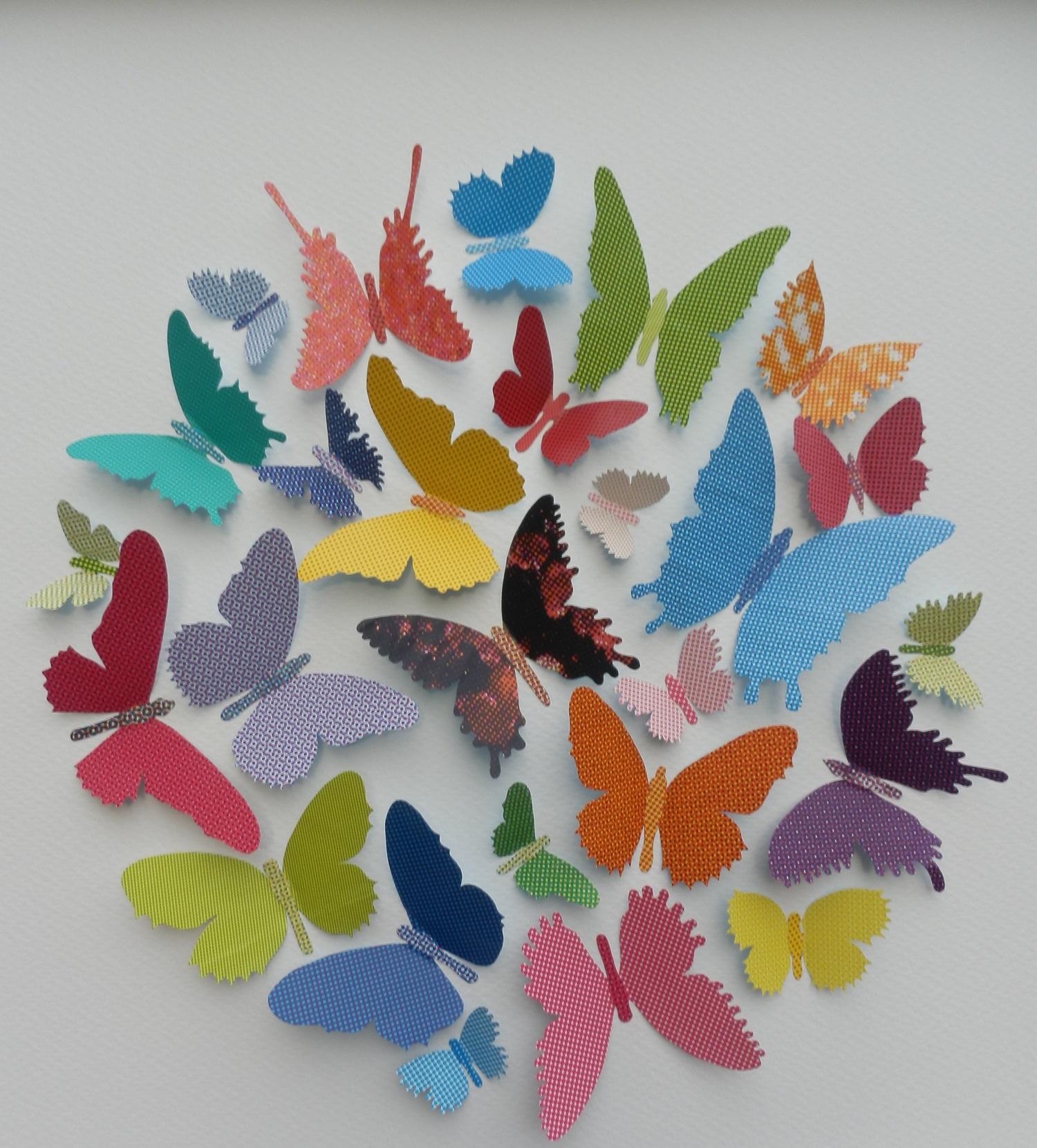 Butterfly Ball  mixed media  53 x 53 cm