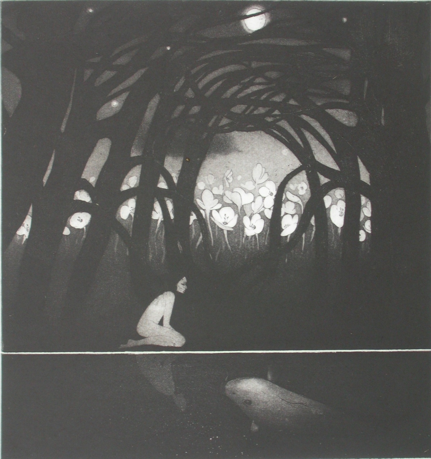Full Moon   etching   29 x 27 cm  £230