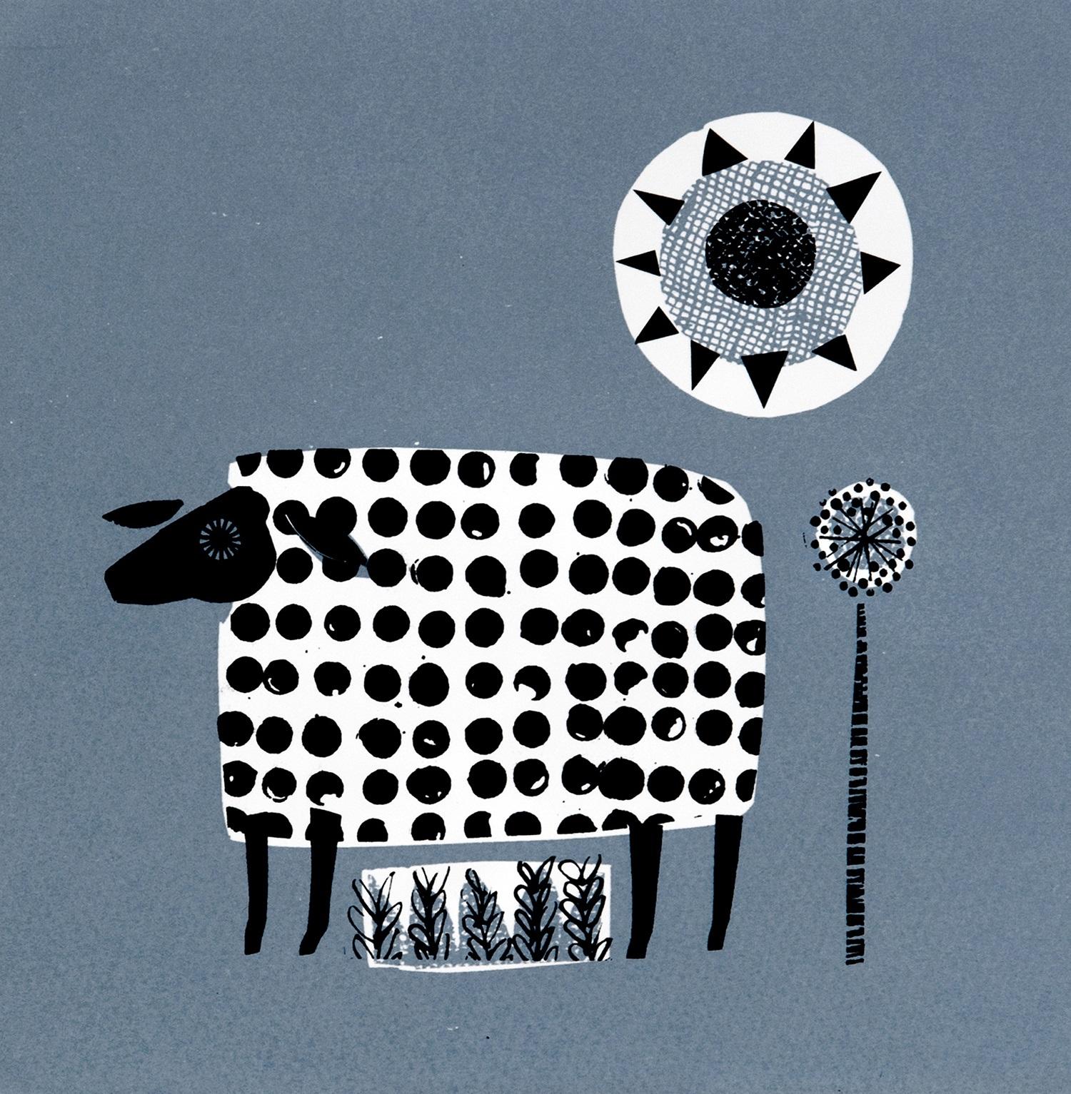 A Ewe Called Sue   screenprint