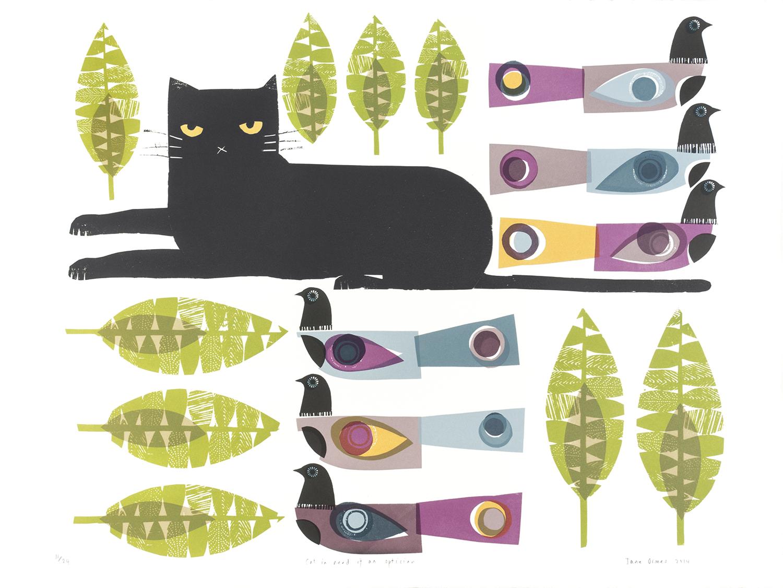 Cat Optician   screenprint