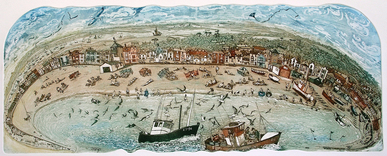 Aldeburgh Beach   etching   91 x 51cm  £279 (unframed)