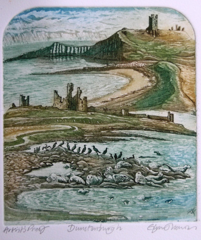 Dunstanburgh   etching   35 x 31cm  .