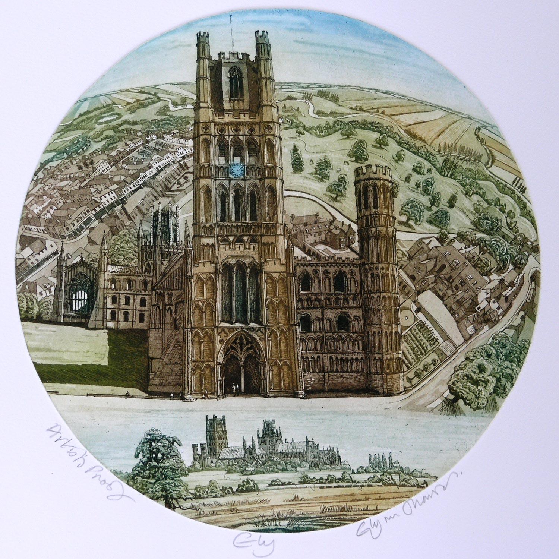 Ely   etching   56 x 51cm  £159 (unframed) £219 (framed)