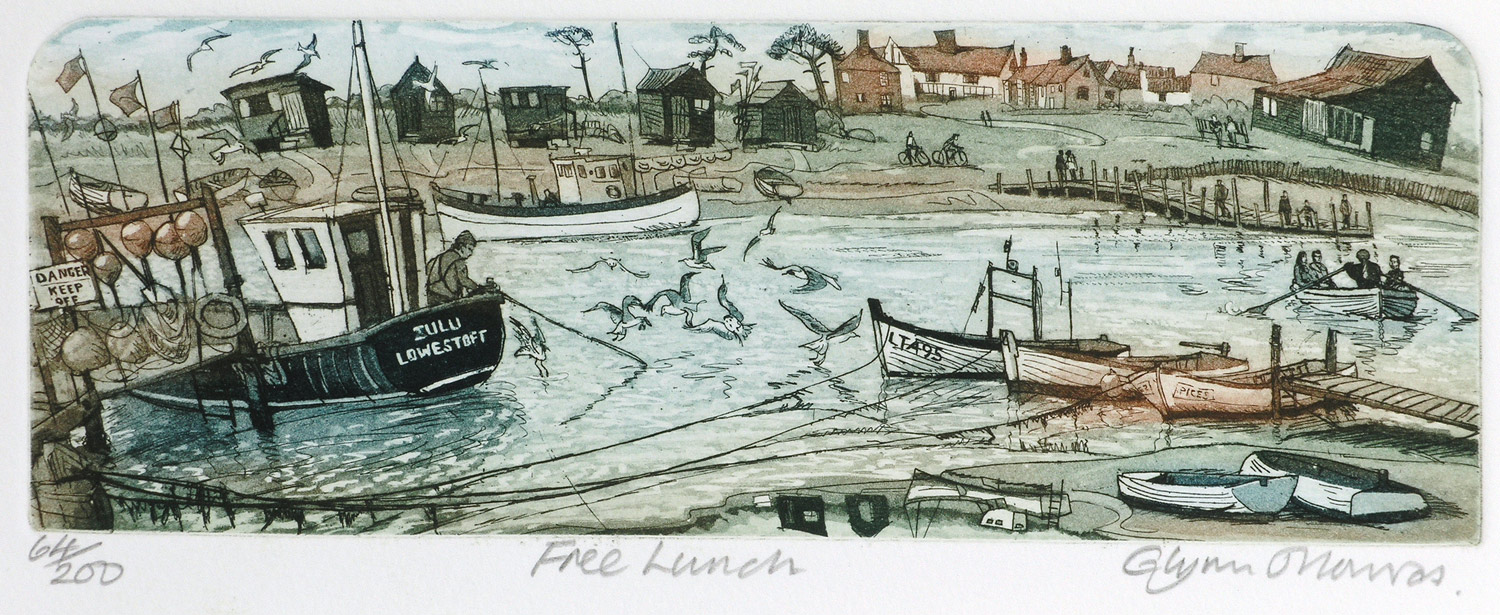 Free Lunch   etching   35 x 23cm  £72 (unframed)