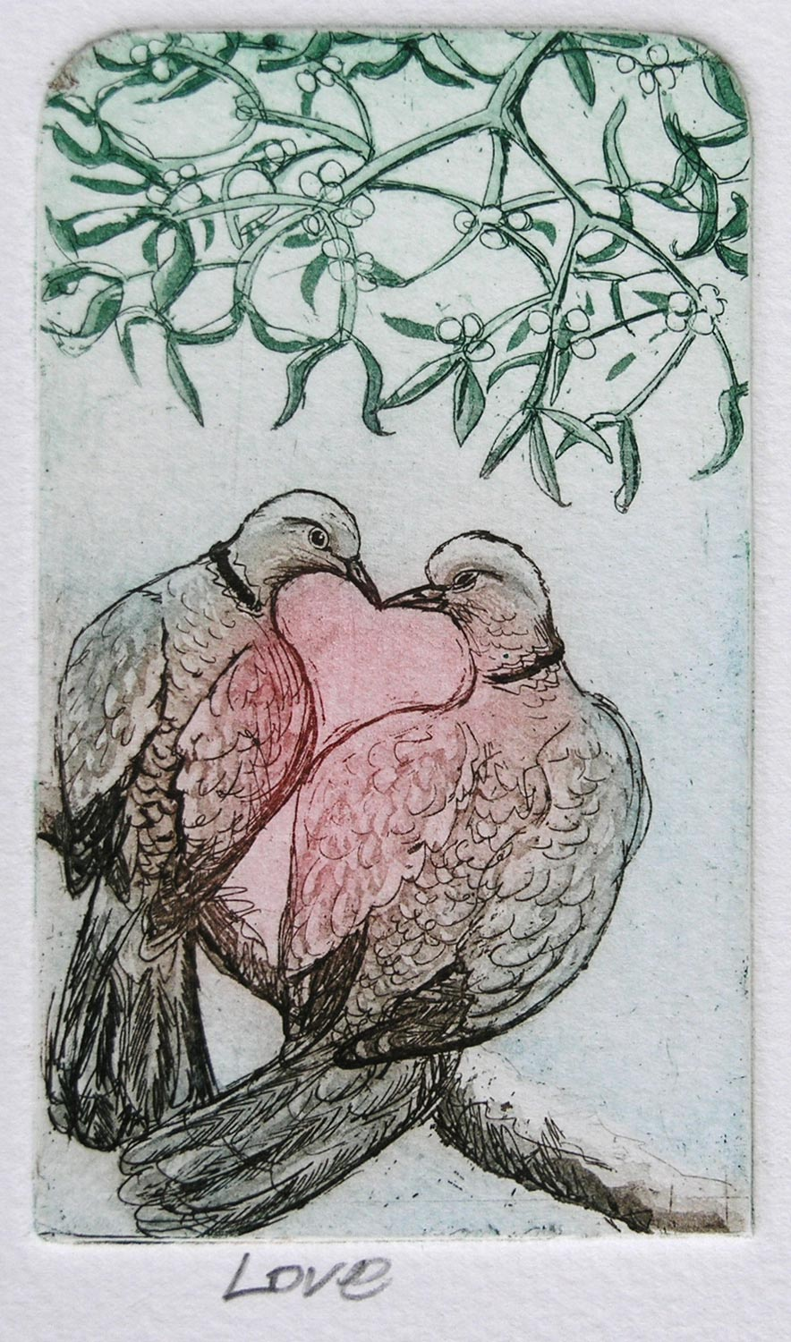 Love   etching   20 x 18cm  £48 (unframed) £72 (framed)