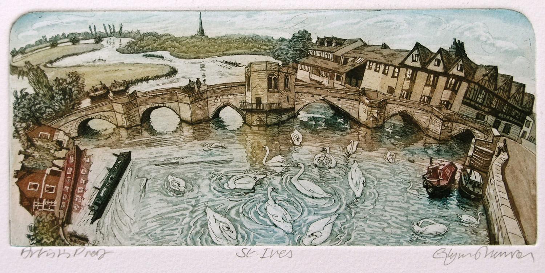 St Ives   etching   35 x 31cm  £97 (unframed) £137 (framed)