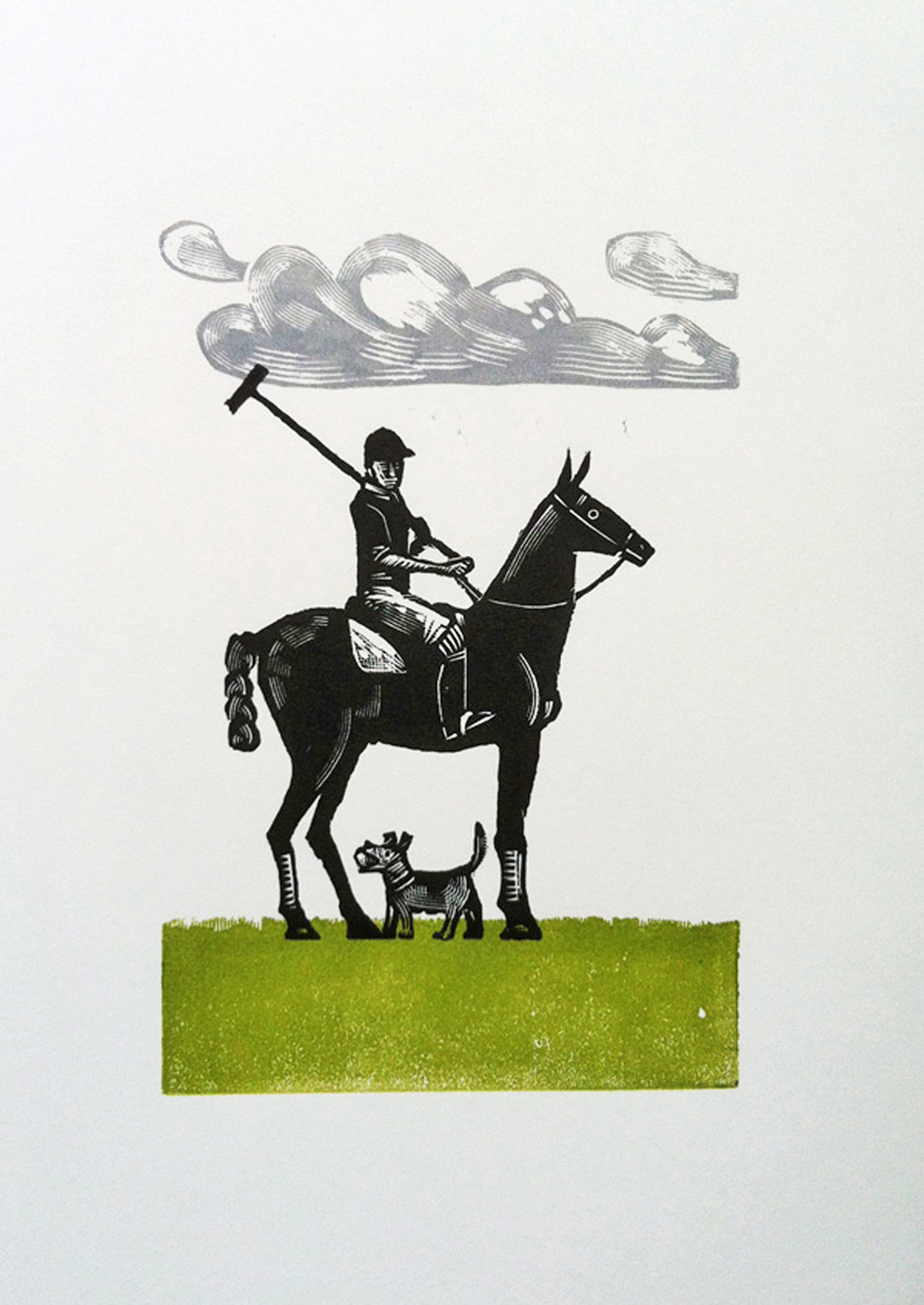 The Polo Player   engraving