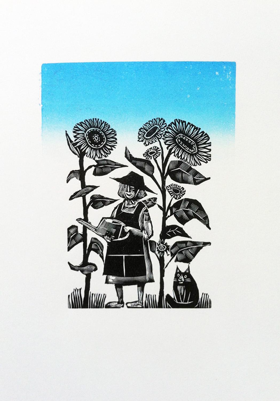The Gardener   engraving