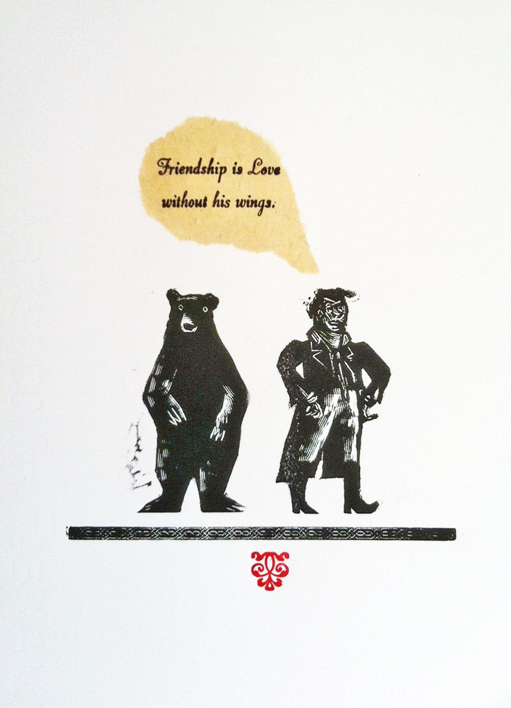 Byron & Bear   engraving