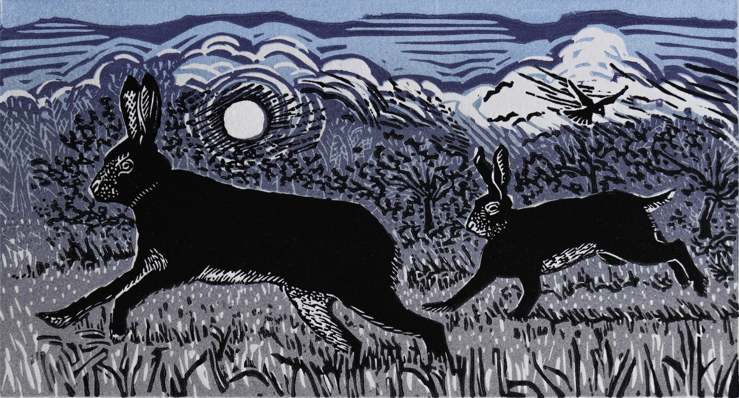 December Morning   linocut   £75 (unframed)