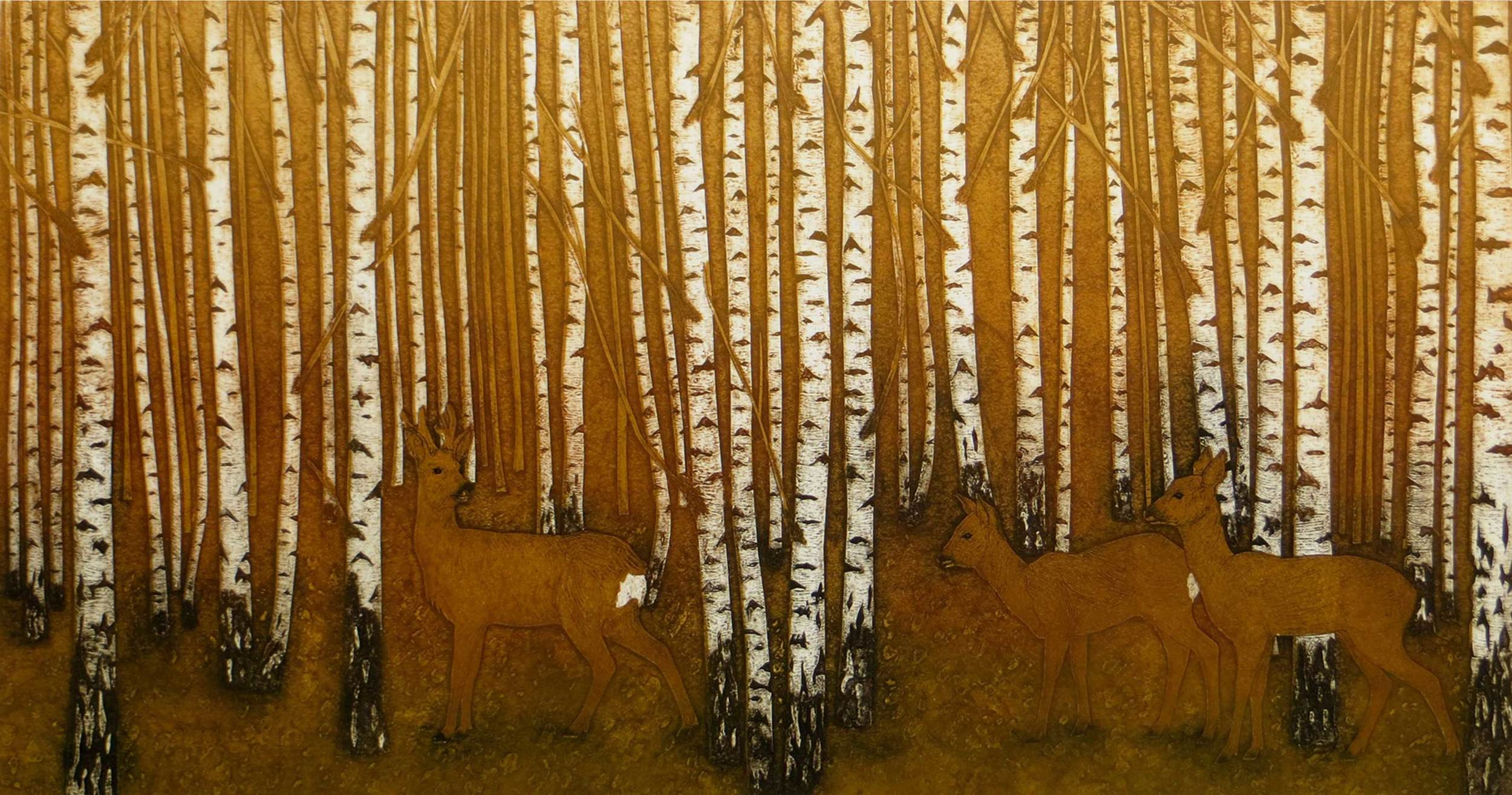 Passing Through   collagraph   29 x 56 cm  £235 (unframed)