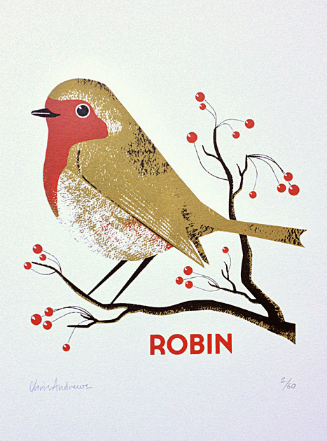 Robin    screenprint
