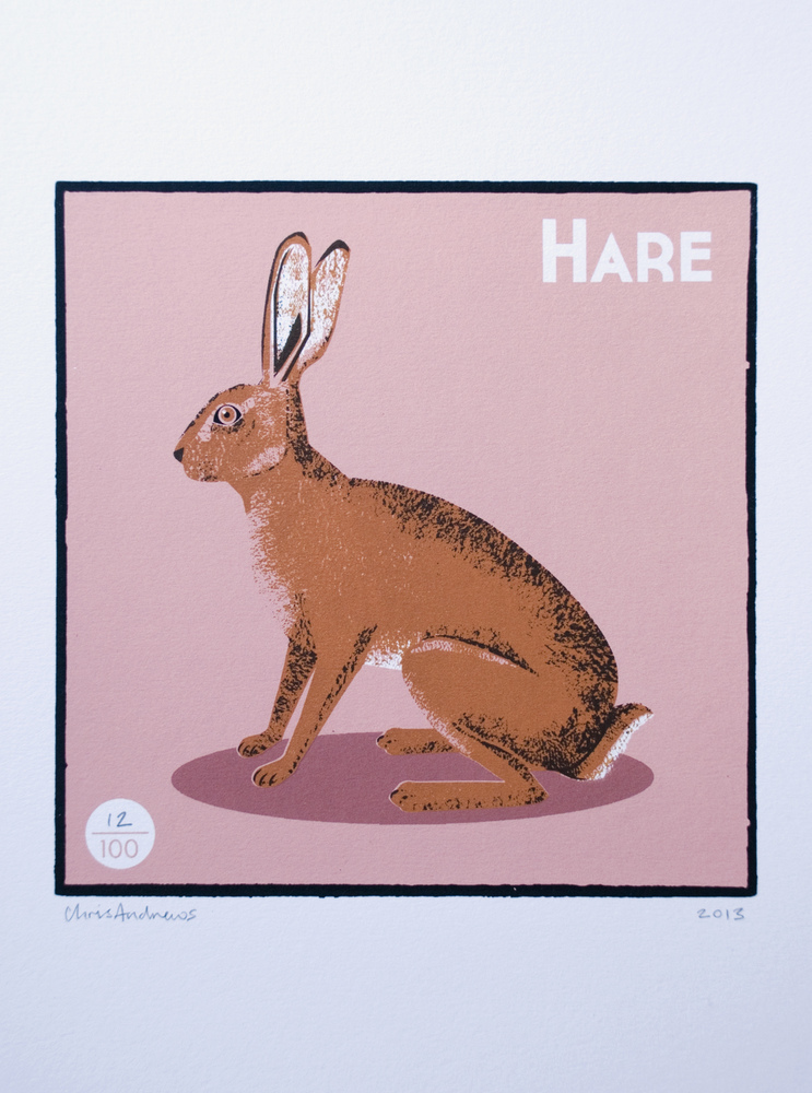 Hare   screenprint