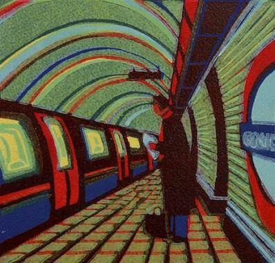 The Waiting Game   linocut   18 x 19.5 cm  £180 (unframed)