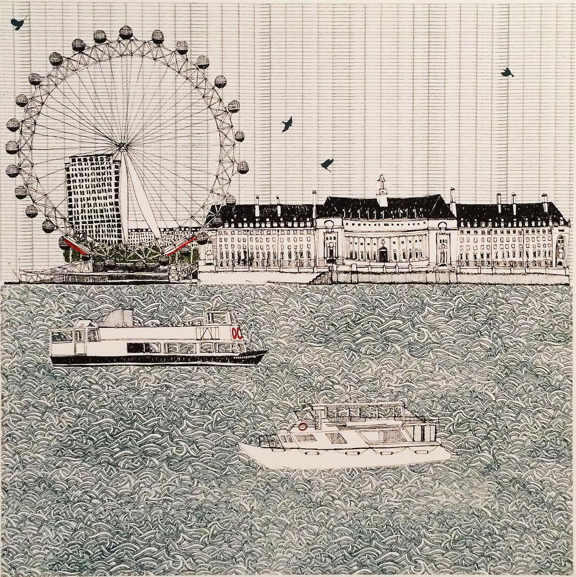 Eye Eye London   screenprint   23 x 23 cm  £150 (unframed)