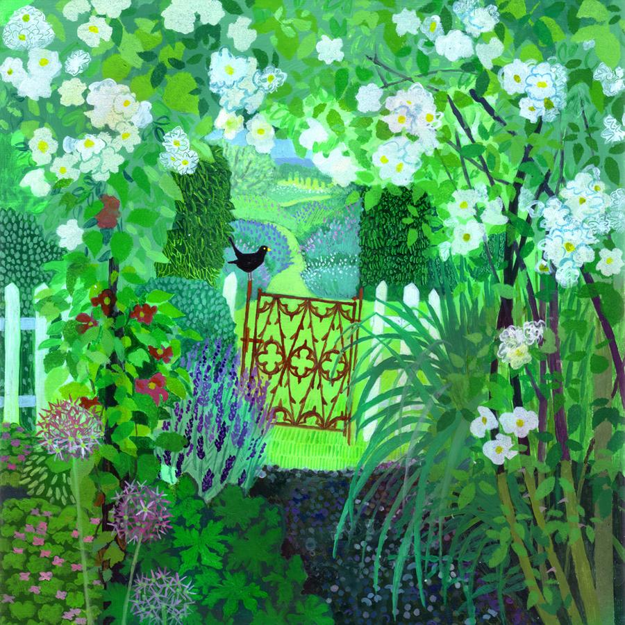 In an English Country Garden  acrylic  £650