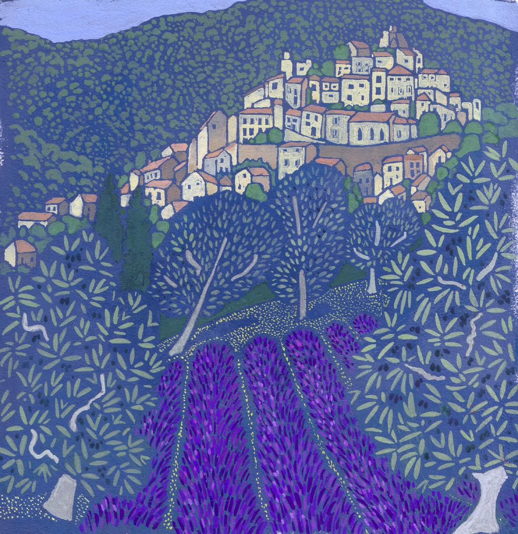 Lavender at Simiane  acrylic