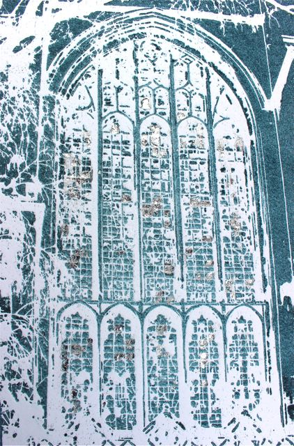 Through the Arched Window ed6   solar plate etching   SOLD