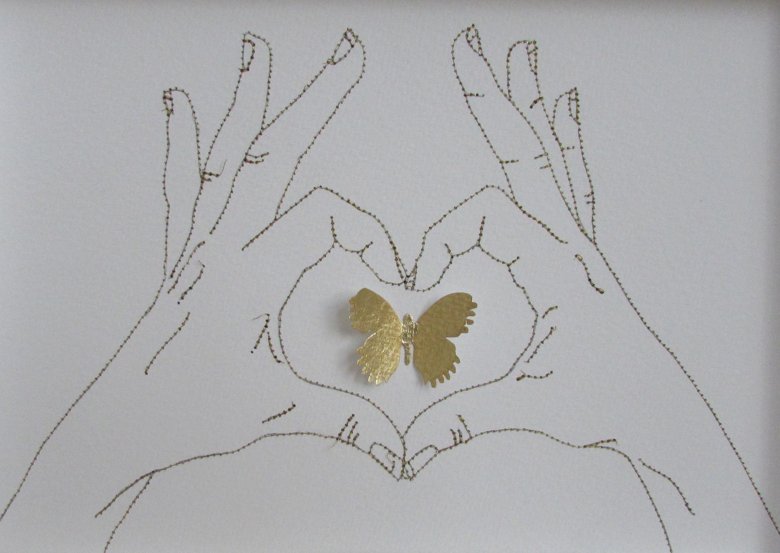 Gesture IV  mixed media  33 x 24 cm