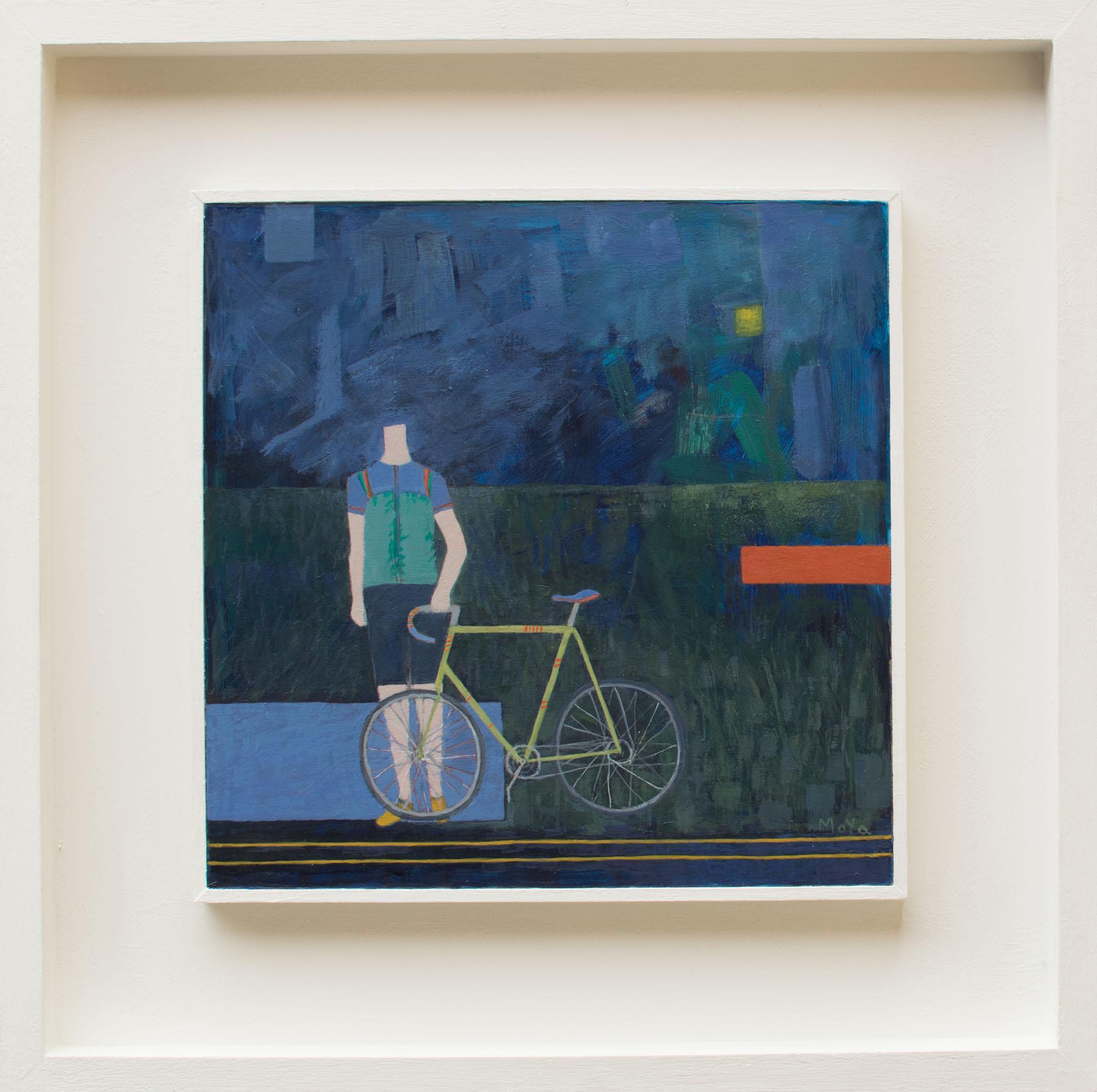 The Racer  acrylic on board  49 x 49 cm framed  £395