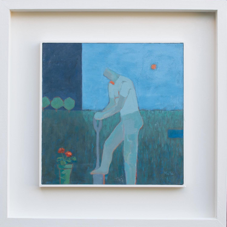 The Geranium  acrylic on board  49 x 49 cm framed  SOLD